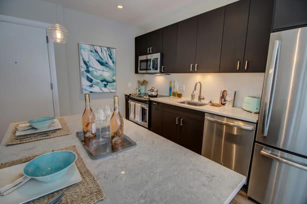 Luxury kitchen at VIA in Boston, Massachusetts