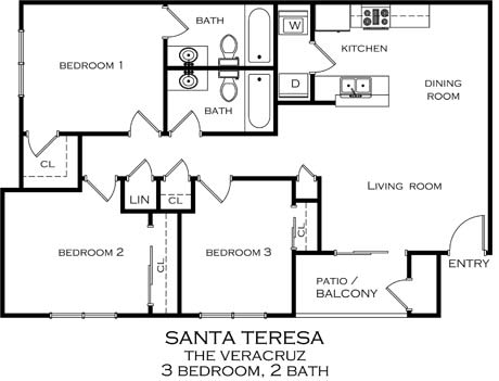 Affordable 2 & 3 Bedroom Apartments in Santa Teresa, NM
