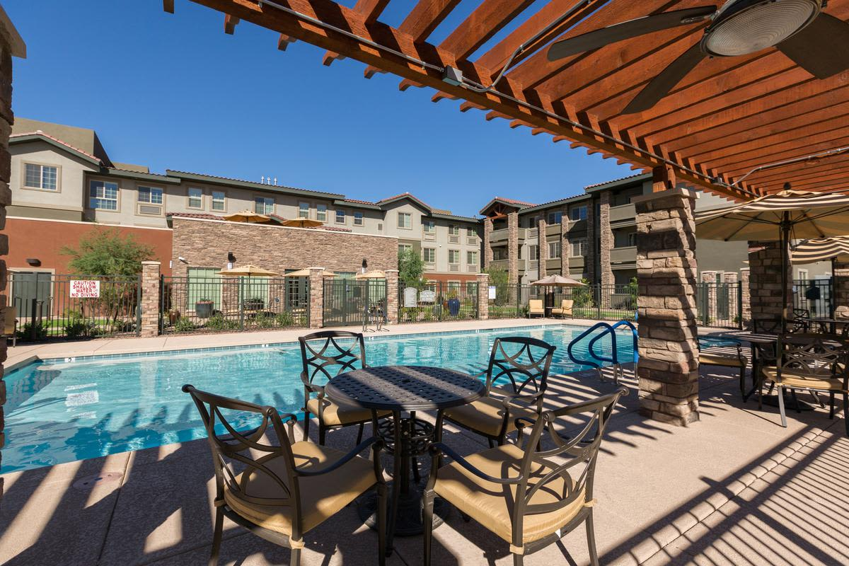 Swimming pool at The Enclave at Anthem Senior Living in Anthem