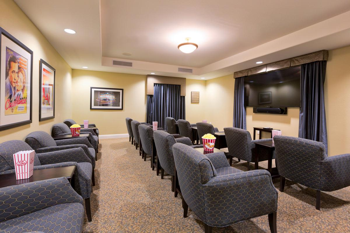 Movie theatre at The Enclave at Anthem Senior Living in Anthem, Arizona