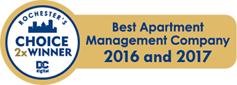2016 and 2017 Best Apartment Management Company graphic