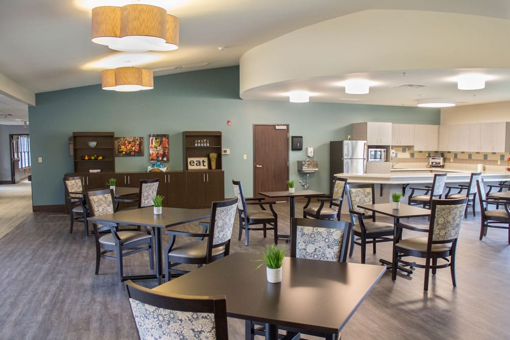 Dinning area at Creekside Health and Rehabilitation Center