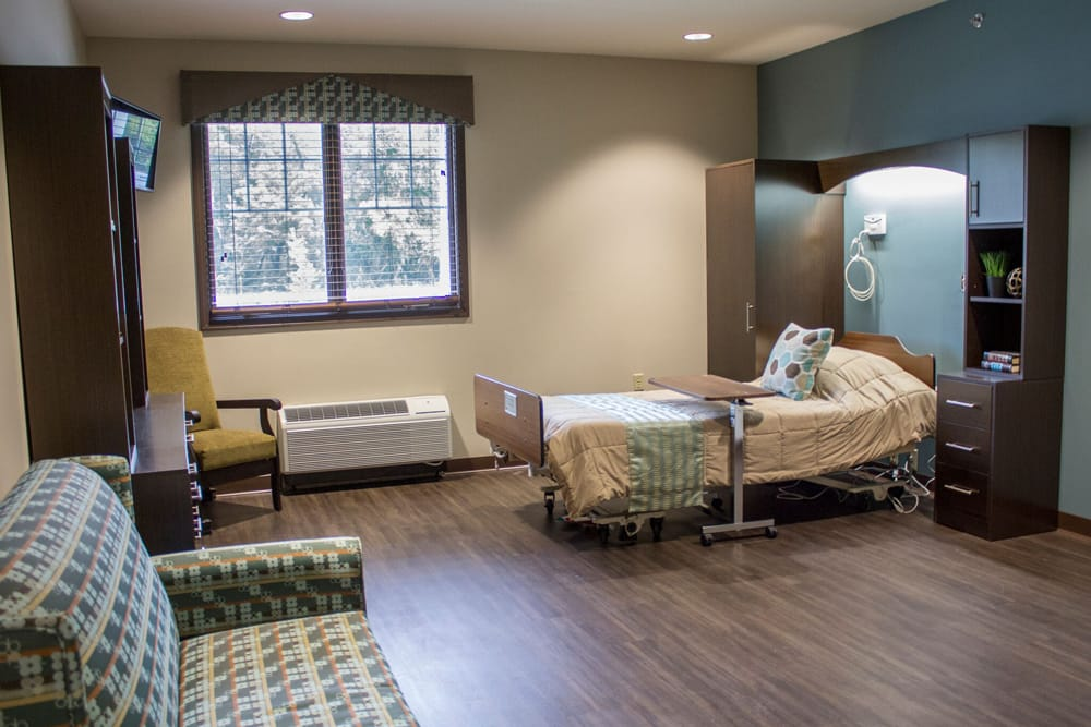Bedroom at Creekside Health and Rehabilitation Center
