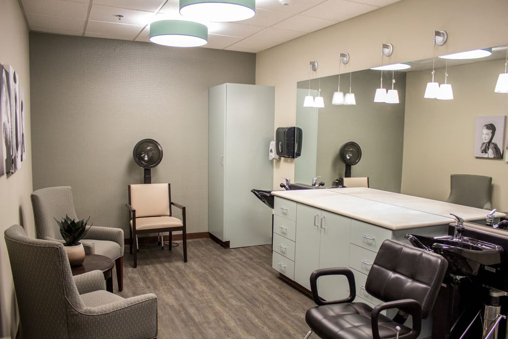 Hair salon at Creekside Health and Rehabilitation Center
