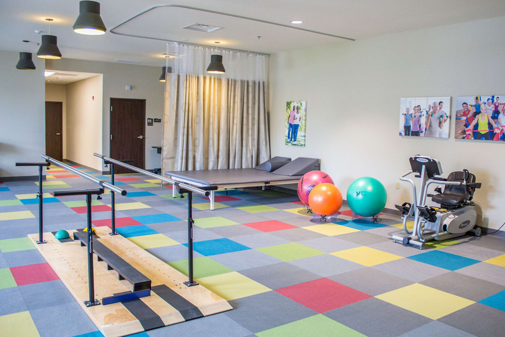 Physical therapy room at Creekside Health and Rehabilitation Center