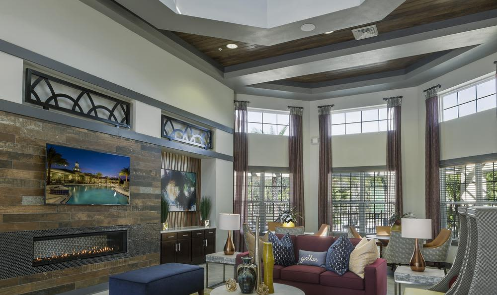 Beautiful living room at apartments in Winter Springs, Florida
