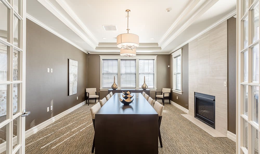 Unique dining room at Orchard View Senior Apartments in Rochester, New York