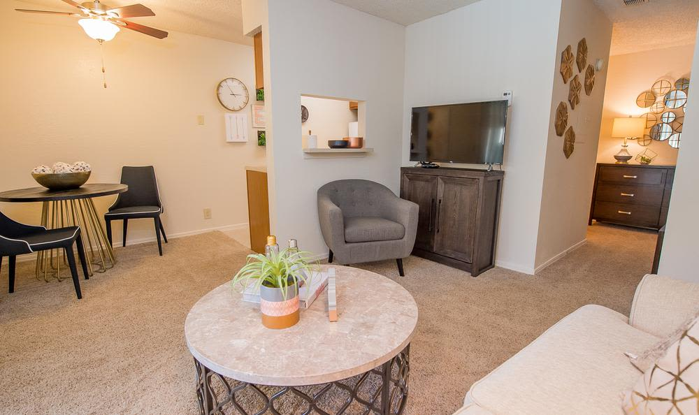 Our apartments in Tulsa, Oklahoma showcase a beautiful entryway
