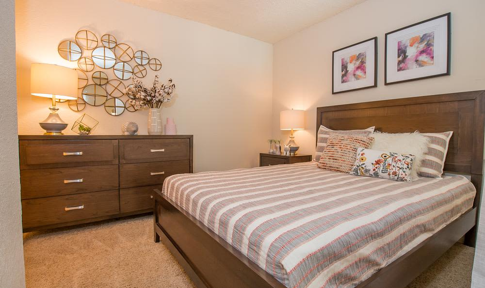 Bedroom at Tulsa apartments