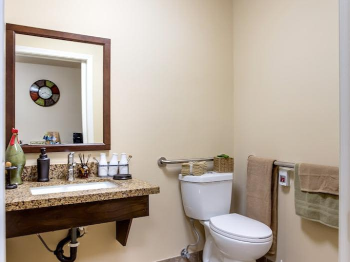 Bathroom at Pacifica Senior Living Snohomish in Snohomish, Washington