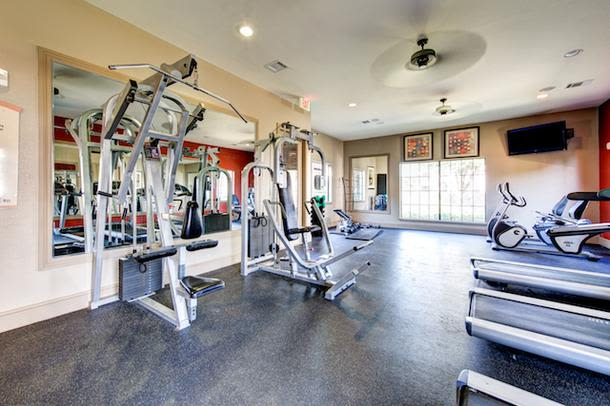 The beautiful fitness center at Marquis Grand Lakes