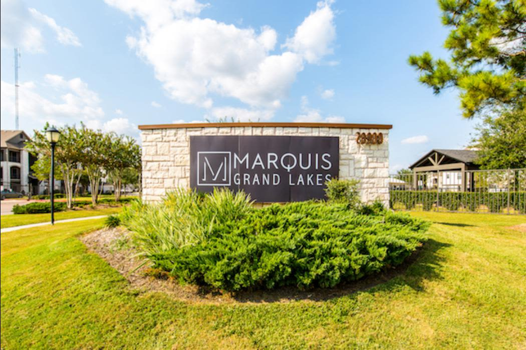 The leasing office at Marquis Grand Lakes in Richmond, TX