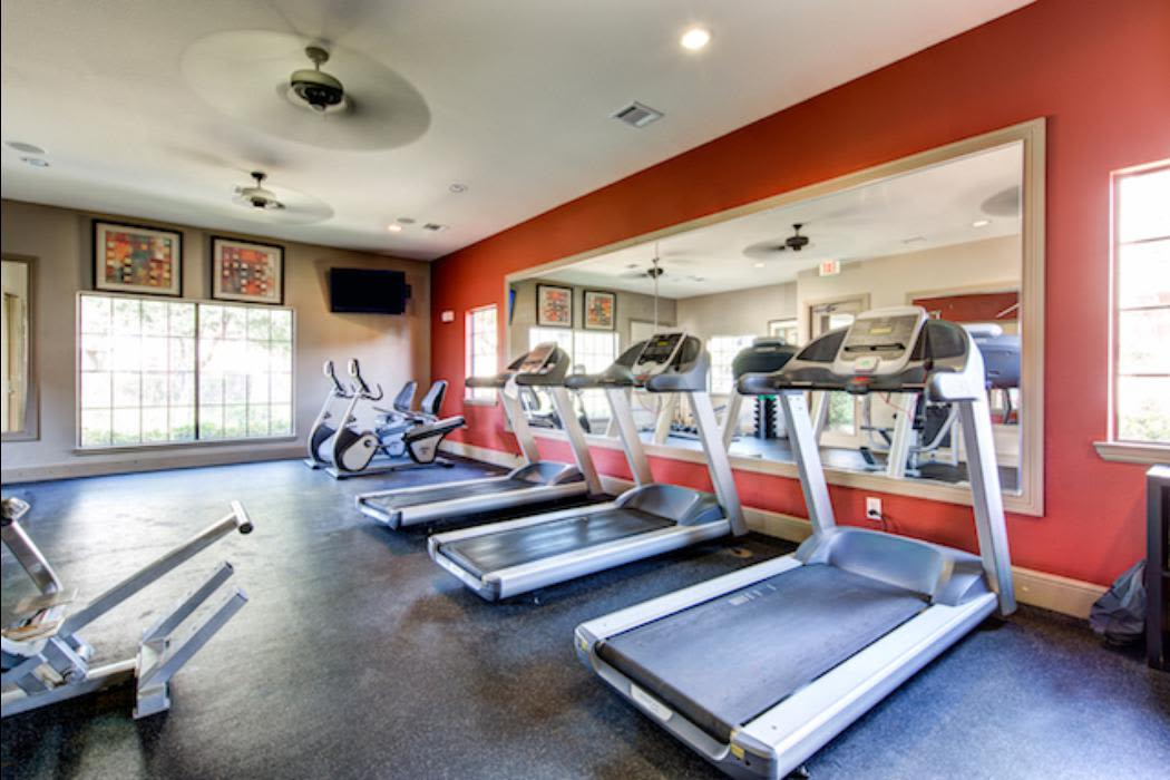 Fitness center at Marquis Grand Lakes in Richmond, TX