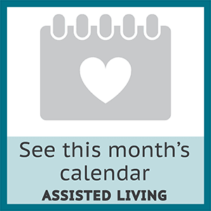 View the event calendar for assisted living residents at Symphony Square in Bala Cynwyd, Pennsylvania