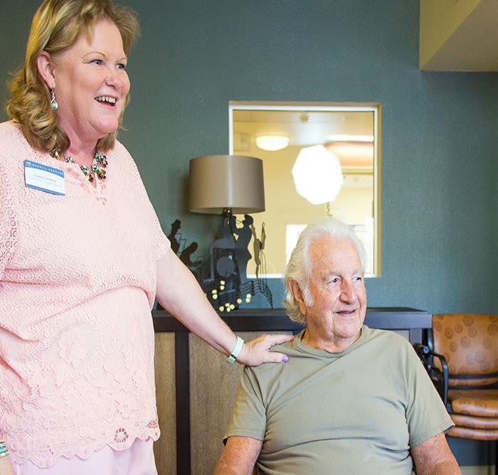 Seniors living a happy life here at Merrill Gardens at Santa Maria