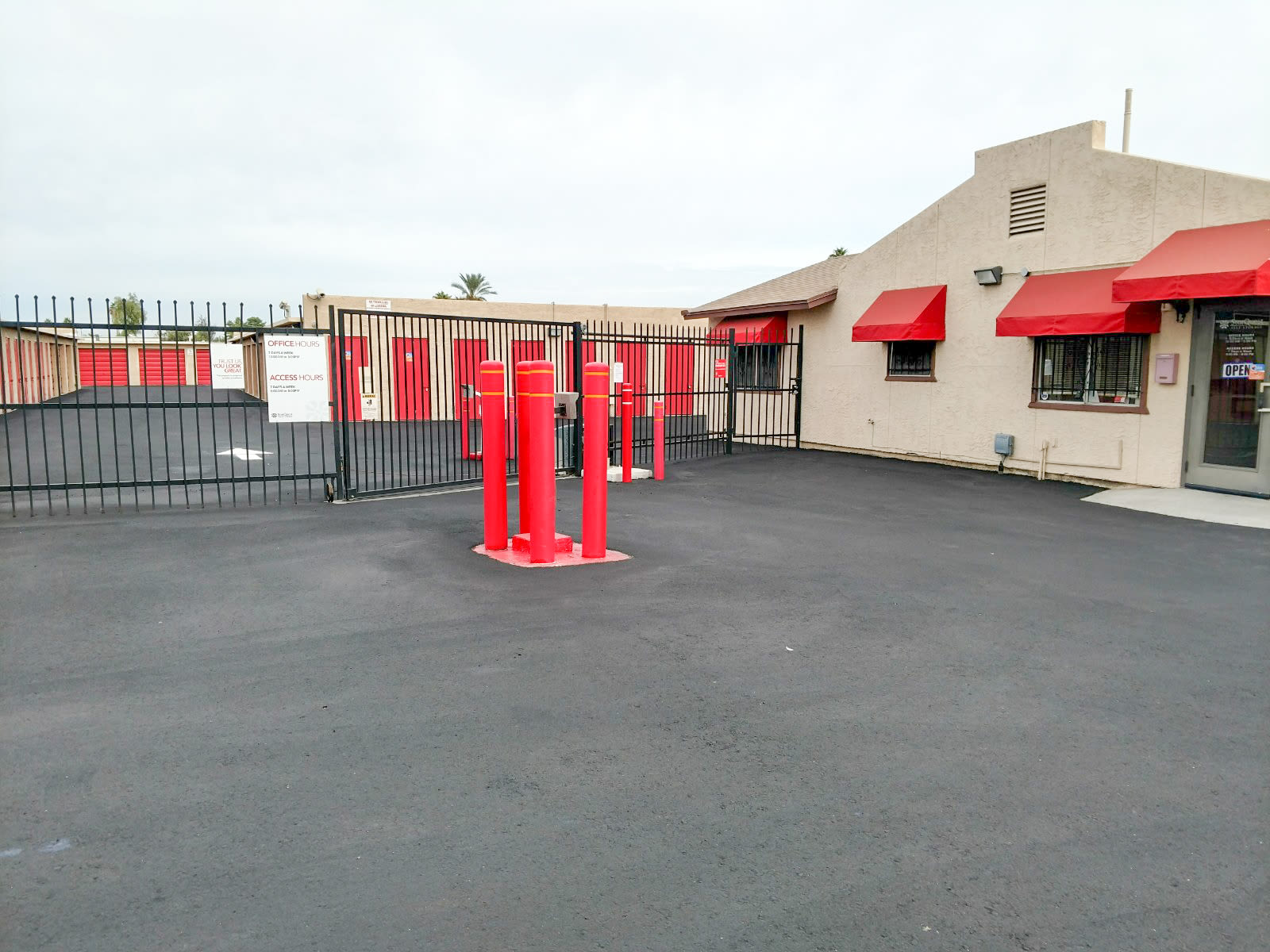 StorQuest Self Storage access gate in Phoenix