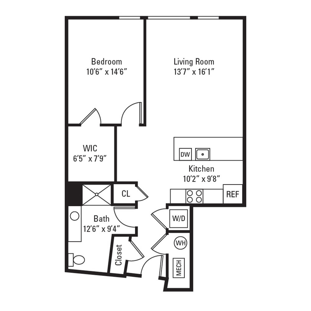 1 Bedroom, 1 Bath 805 sq. ft. apartment in Rochester, NY