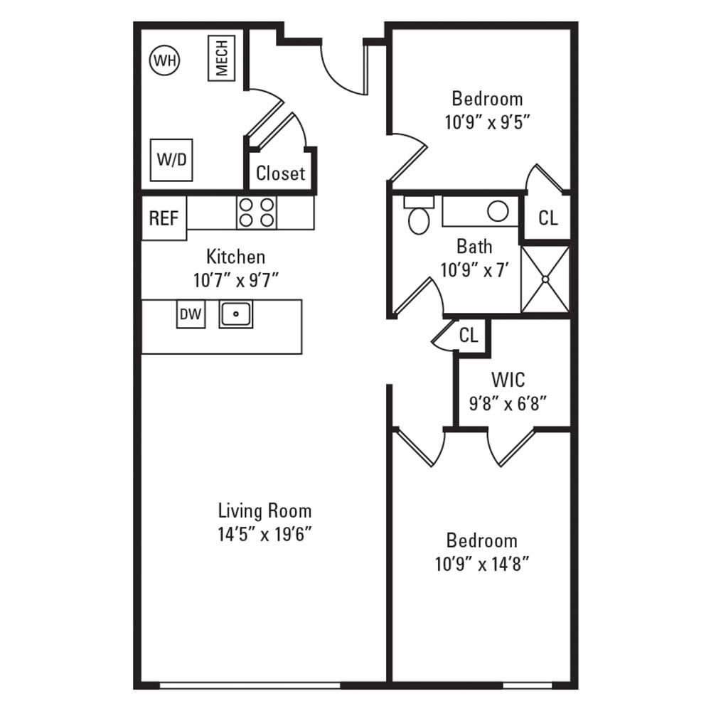 2 Bedroom, 1 Bath 920 sq. ft. apartment in Rochester, NY