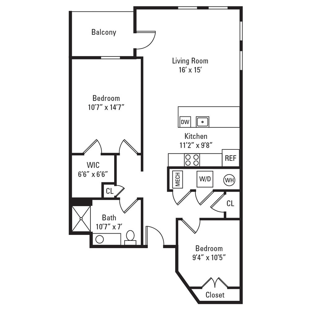2 Bedroom, 1 Bath 958 sq. ft. apartment in Rochester, NY