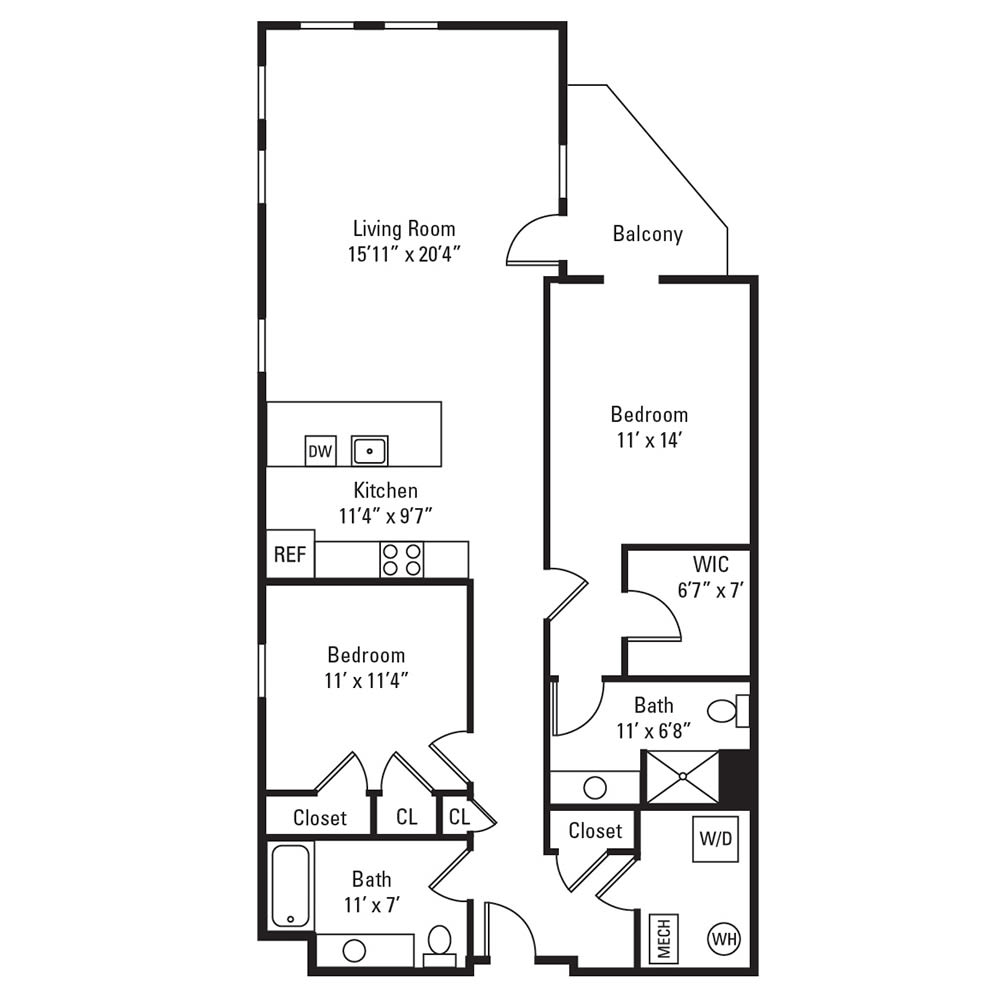 2 Bedroom, 2 Bath 1,224 sq. ft. apartment in Rochester, NY