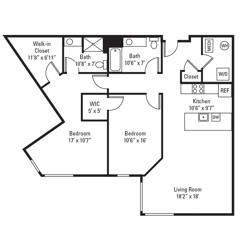 2 Bedroom, 2 Bath 1,266 sq. ft. apartment in Rochester, NY