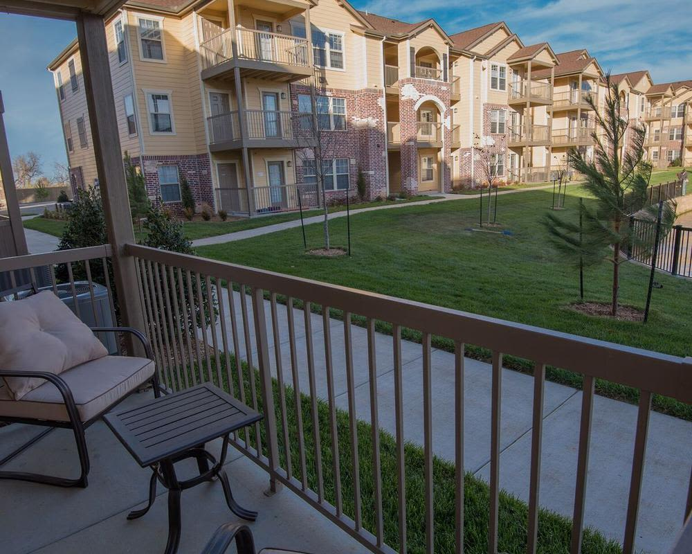 Private balcony or porch at Watercress Apartments in Maize
