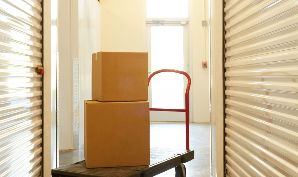 Tools to help you move easier at Spacebox Storage in Lake Park, Florida.