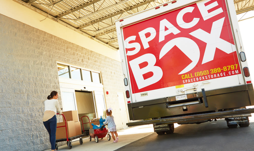 Free moving truck at Spacebox Storage in Lake Park, Florida.