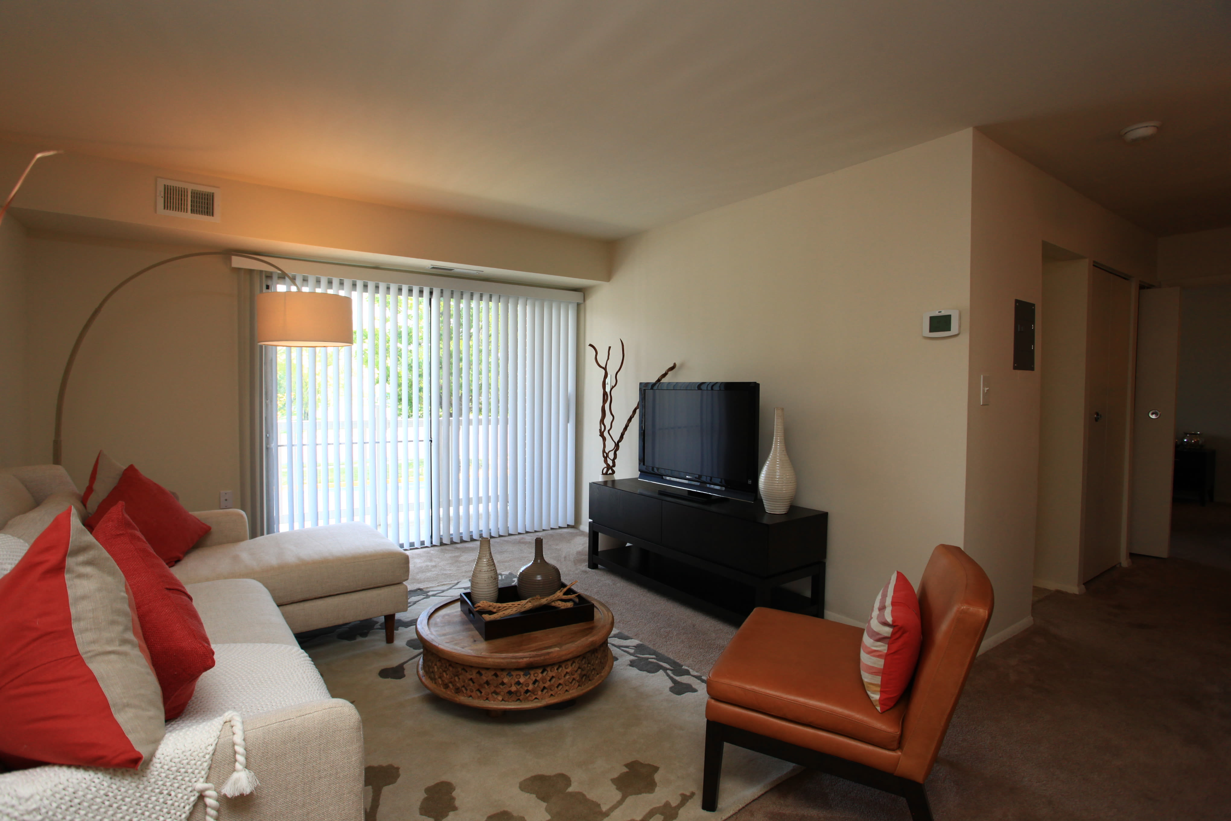 Our apartments in Middle River, Maryland showcase a beautiful living room