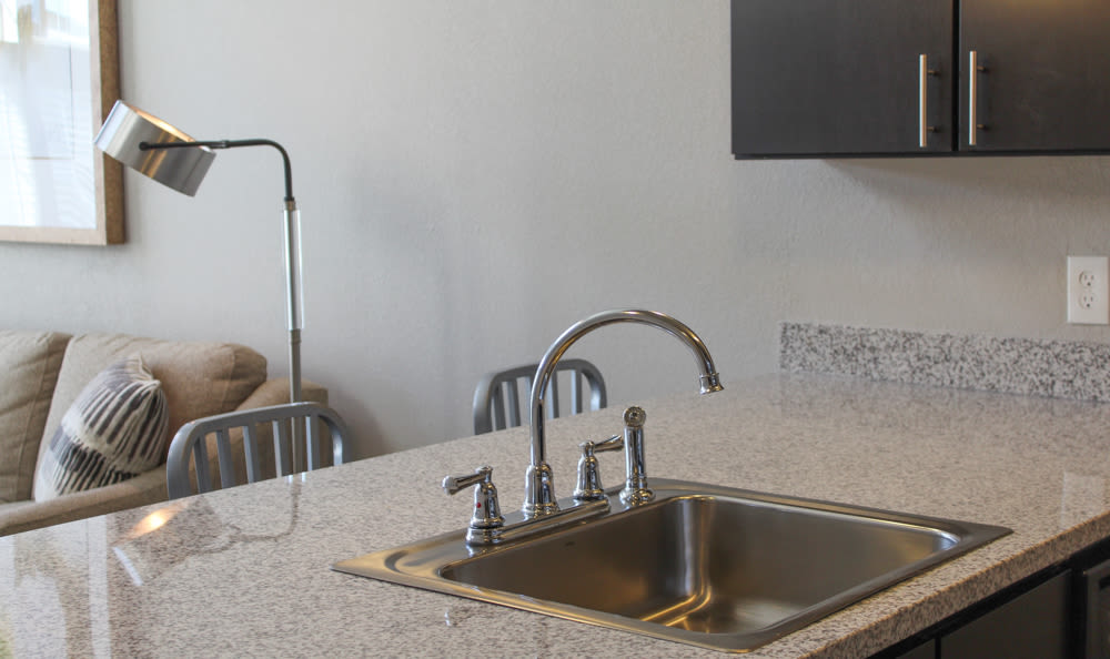Granite in the open concept floor plan at Springs at West Chester Apartments in West Chester, OH