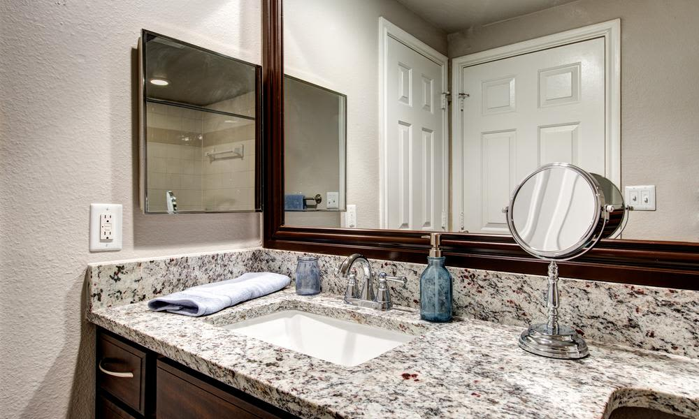Enjoy the modern bathroom at Marquis at Stonegate in Fort Worth, Marquis at Stonegate