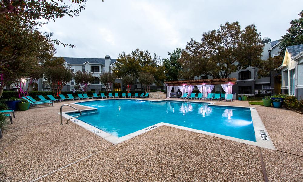The pool at the apartments for rent in Fort Worth, TX