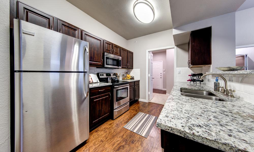 An example kitchen at Marquis at Stonegate