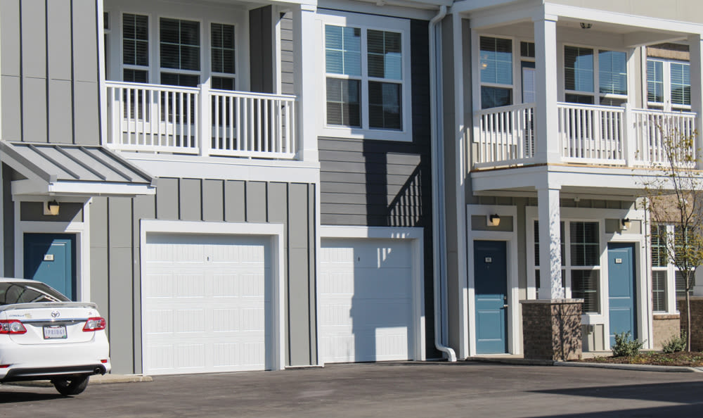 Attached garages at Springs at West Chester Apartments in West Chester