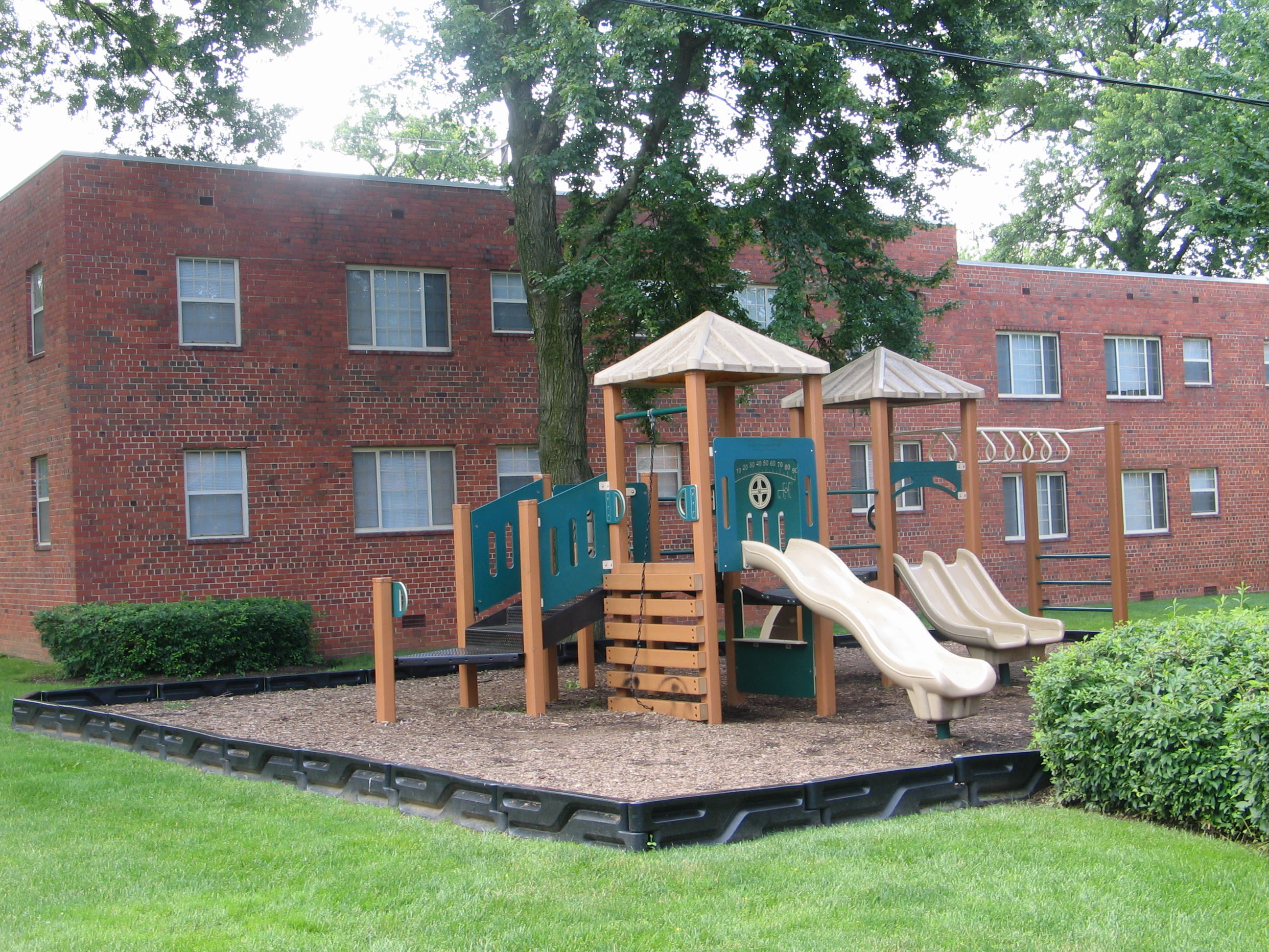 A playground that is great for entertaining at apartments in Hyattsville, Maryland