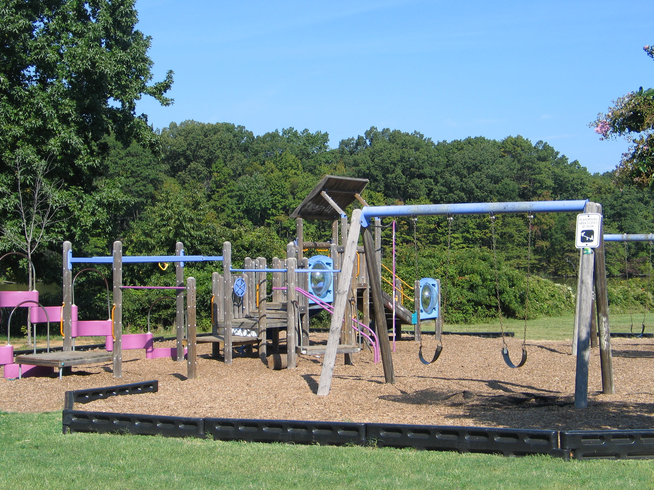 A playground that is great for entertaining at apartments in Essex, Maryland