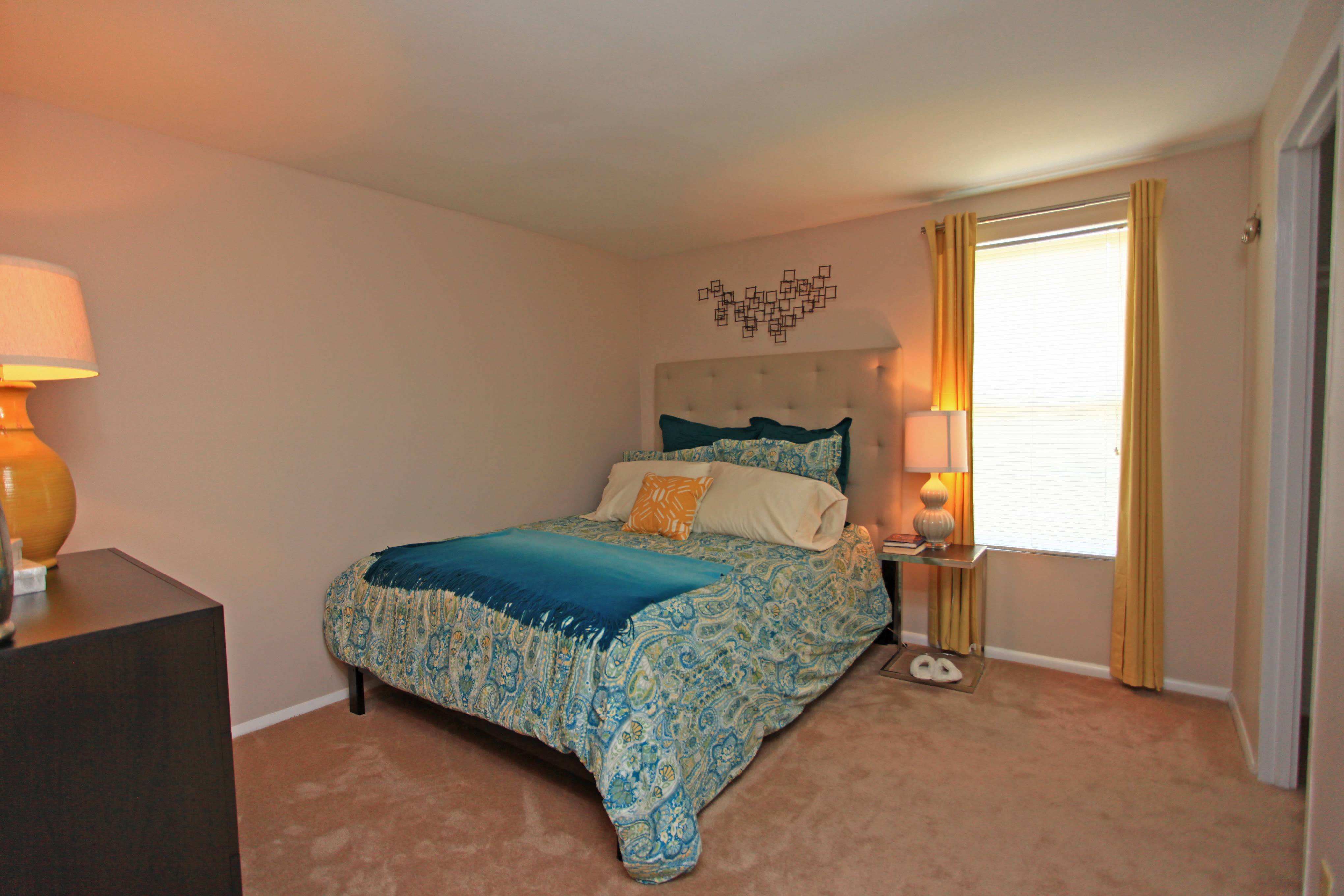 Our apartments in Halethorpe, Maryland showcase a beautiful bedroom