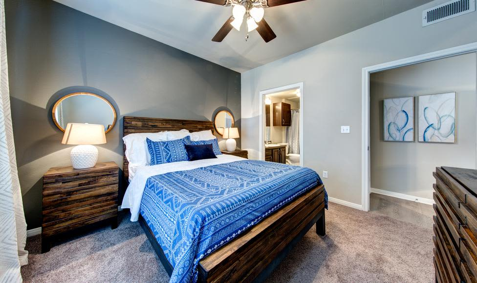 Enjoy our comfortable bedroom at Brooks on Preston in Plano