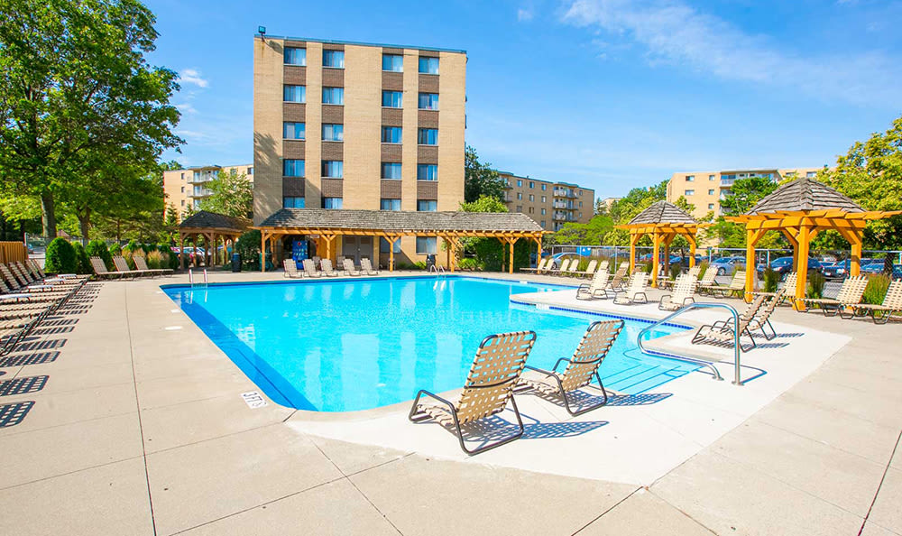 Pool at The Drake Apartments in Mayfield Heights, OH