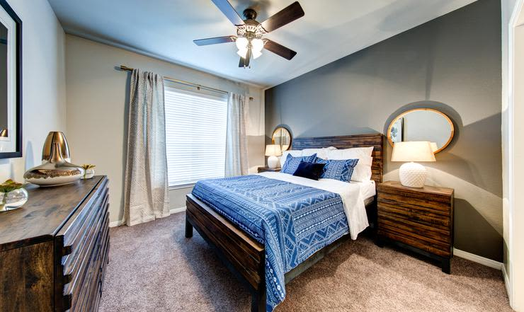 Enjoy our comfortable bedroom at Brooks on Preston in Plano, Brooks on Preston