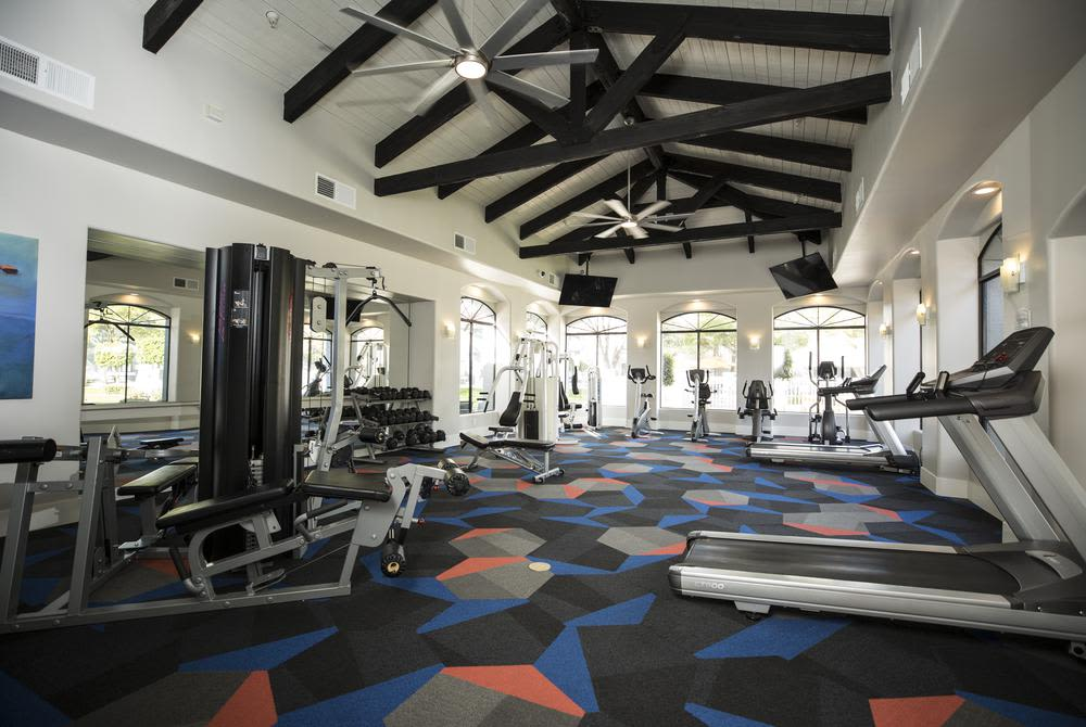 Gym at San Valiente Luxury Apartment Homes in Phoenix