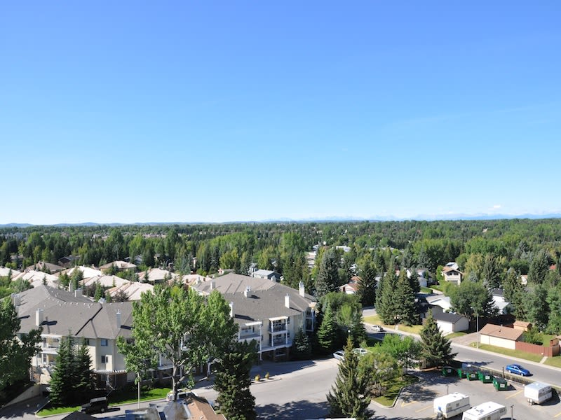 Enjoy the beautiful front view of Glenmore Gardens apartments