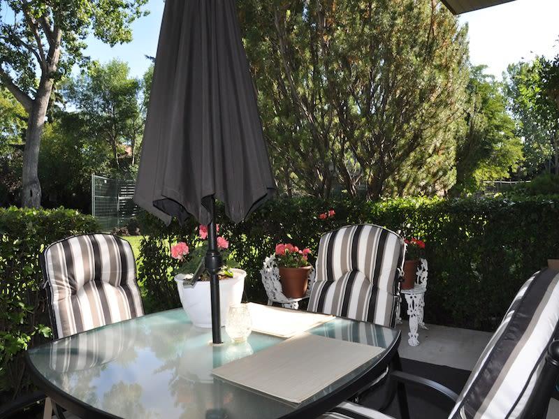 Private patio at apartments in Calgary, Alberta