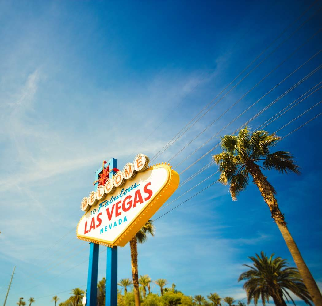 Las Vegas sign welcomes residents of Dream Apartments to their neighboring city!