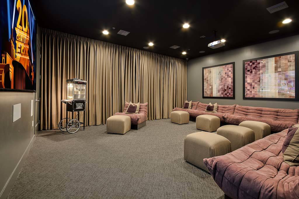 Lavish on-site movie theater at Union Apartments in Las Vegas