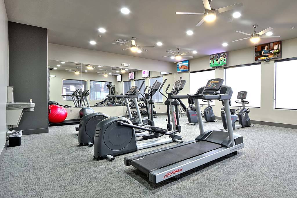 Very well-equipped fitness center at Union Apartments in Las Vegas