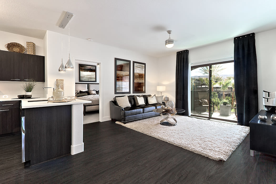 Spacious floor plans with hardwood floors at Union Apartments in Las Vegas