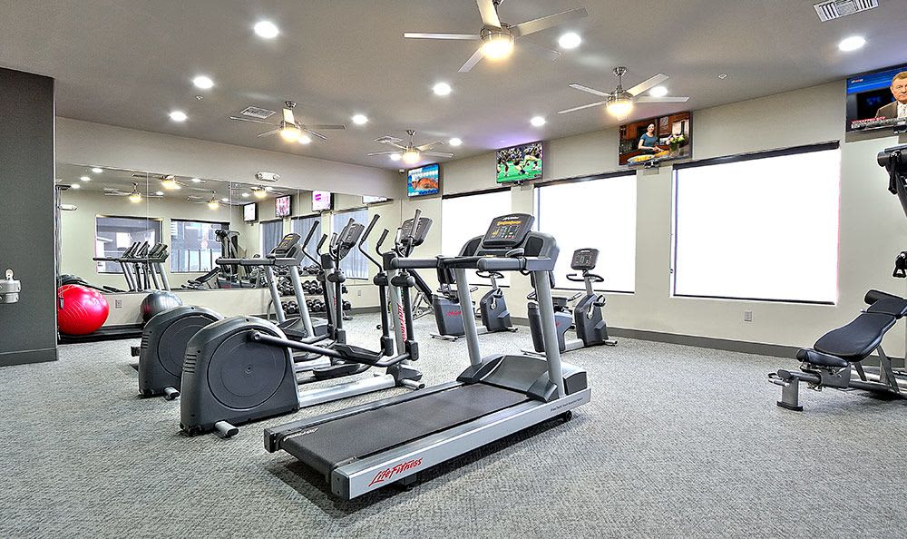 On-site fitness center at Union Apartments in Las Vegas