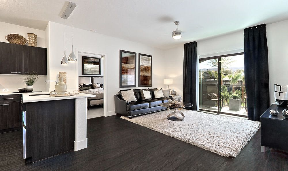 Hardwood floors and more in spacious model home at Union Apartments in Las Vegas