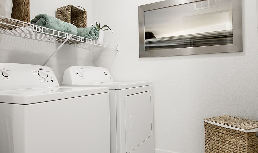 In-home washer and dryer in all units at Union Apartments in Las Vegas